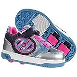 Heelys Plus X2 | Scarpe da Ginnastica a Due Ruote per Scarpe da Skate da Bambina | (31 EU, Blue/Silver/Pink)