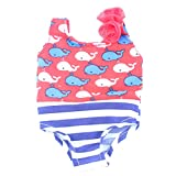One-piece Whale Swimwear Summer Swimsuit For 18 Inch American Girl Doll