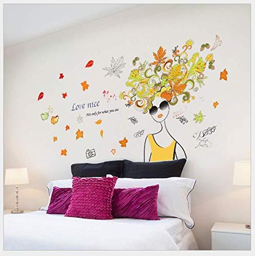 Zipei Schlafzimmer Wohnzimmer Dekoration Mode Sonnenbrillen Frau Wandaufkleber 110X56 cm