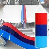 2M Auto Streifen M-Colored Flagge Aufkleber Motorhaube Deko für BMW