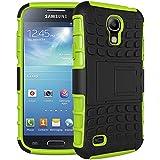 Samsung Galaxy S4 I9500 Funda Con Pata de cabra / Stand,EMAXELERS Slim Protector Dise?o Seguro Non-Slip Grip Unico Hybrid Soft & Duro A prueba de golpes Protecci¨®n Cover Para Samsung Galaxy S4 I9500(Green)