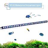 TOPLANET 135w Aquarien Led Beleuchtung Aquarium Lampe blau Wasserdicht IP65 Fisch Koralle Tank Meerwasser 85cm