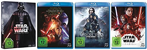 Star Wars 1-8 + Rogue One / 9 Teile [Blu-ray Set] (Star Wars Blu-ray Set)