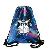 Rainlemon KPOP BTS Bangtan Boy Galaxy sacca zaino Starry BTS scuola borsa da palestra