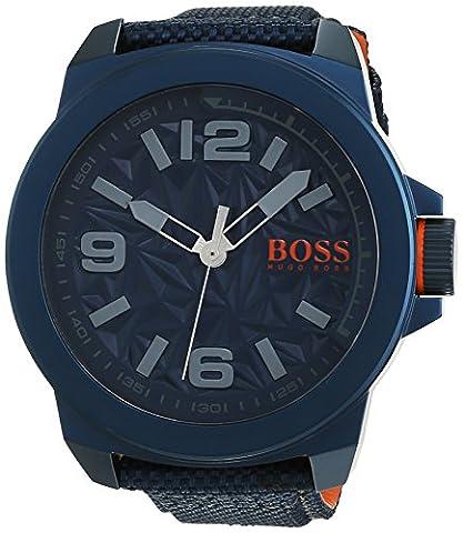 BOSS Orange Herren-Armbanduhr NEW YORK Analog Quarz Textil 1513353