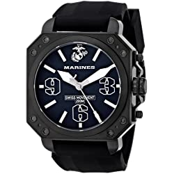 Wrist Armor Men's WA157 C4 Stainless Steel Analog Display Swiss Quartz Watch with Black Silicone Strap
