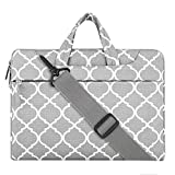 MOSISO Notebooktasche für 11-11,6 Zoll MacBook Air, Ultrabook Netbook Tablet Quatrefoil Stil Laptop Schultertasche Sleeve Hülle Umhängetasche mit Griff und Schulterriemen als Messenger Bag, Grau