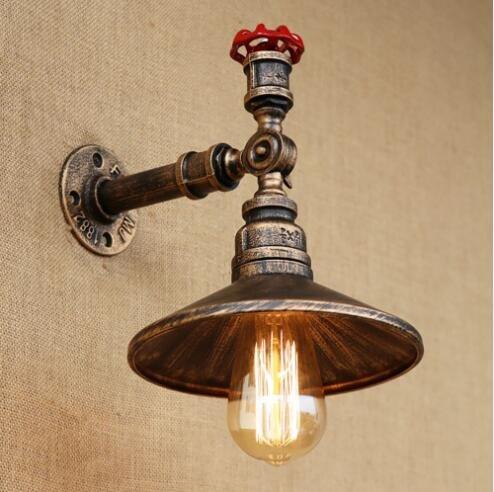 4. die farbe schwarz - art - deco vintage rohr bett wandlampen mit led - licht für cafe loft wandleuchter bar wohnzimmer,bronze - rost (Loft 9 Licht)