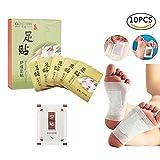Pads de pied Filfeel 10 pcs Vinaigre de bambou Gingembre Patch de pied Premium Detox Foot Patch pour améliorer le sommeil Soulagement rapide de la douleur Beauté Minceur soins de santé Stress Relief P