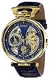 Calvaneo 1583'Compendium oro Blue' High Luxury Squelette orologio automatico