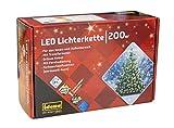Idena LED Lichterkette, mit Timerfunktion 200er, warm weiß und bunt umschaltbar, 31098