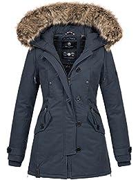 f0cc62c20108a7 Navahoo Damen Designer Winter Jacke warme Winterjacke Parka Mantel B638