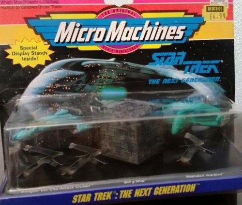 Star Trek - The Next Generation - MicroMaschines - Klingon Vor'Cha Attack Cruiser -Borg Ship - Romulan Warbird - Collection # 3