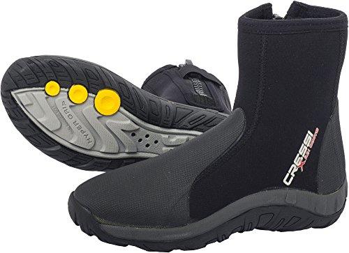 Cressi Lux Dry - Botas de buceo, color negro, talla L