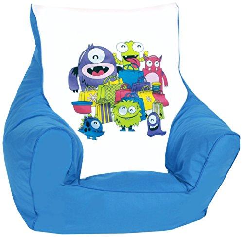 knorr-baby 450301 Kinder Sitzsack'Monster', blau