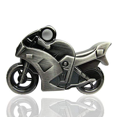 818-Shop no20400070008 Memorias USB metal Moto 3d Plata (8 GB), color plateado