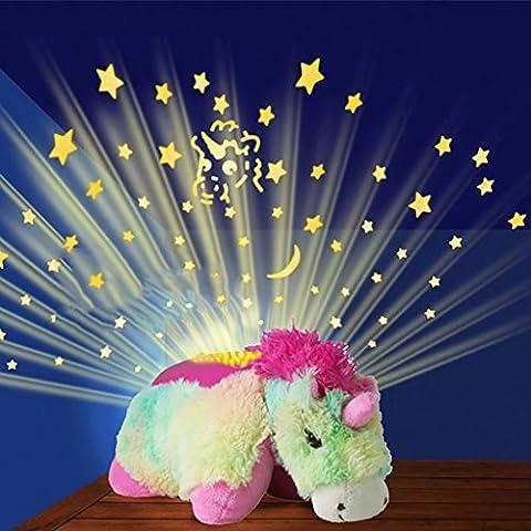 NAUY Proyección de bolsillo mini niños de la lámpara del sueño luz de la estrella juguetes de peluche bolsas pueden ser