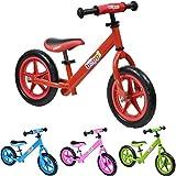 Vélo draisienne en métal boppi® pour développer l'équilibre de 2 à 5 Ans - Rouge