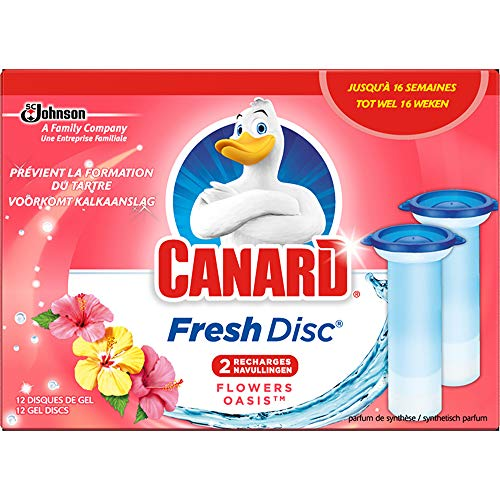 Canard WC Fresh Disc Nettoyant Flowers Oasis 12 Disques 2 x 36 ml - Lot de 2