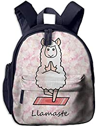 VHGJKGIN Llamaste Yoga Llama - Mochila Unisex Original para niños