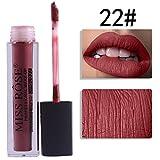 Toamen Rouge à lèvres liquide Velours Matte9ml Cosmétique Beauté Maquillage Très pigmenté pour Femmes Mode Nouvelle Arrivee (J)