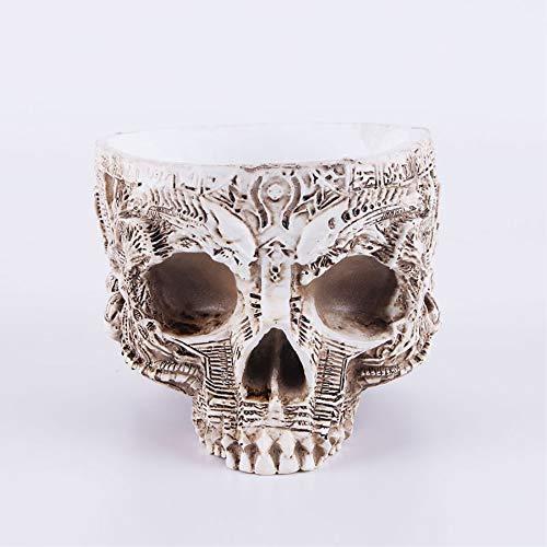 ZHZX Gemusterte Blumentopf Schädel, dauerhafte Skelett Fotografie Requisiten Dekoration, Kunstharz-Skulptur für zu Hause Ornament Lehrmittel