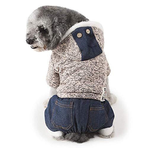 Wolle Knee Warmers (HYCy Haustier-Kostuuml;m Winter Warm Mode Stricken Wolle Mit Kapuze Verdicken Hundebekleidung Zum Huuml;ndchen Katze Bekleidung)