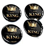 4 x 60mm Silikon Nabenkappen Kappen The King Felgendeckel Radkappen