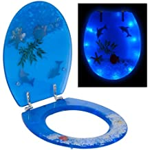 TecTake Asiento de inodoro con tapa para WC de váter cuvette de WC LED 3D