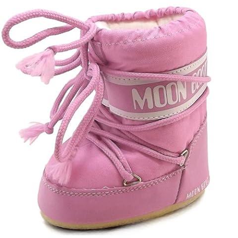 Moon Boot by Tecnica Mini Nylon 14004300-063 Kinder Winterstiefel, pink,
