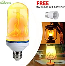 lovelyhome Flickering Flame Bulbs Fire Upside Down Decorative LED Light E27,(4 Lighting Modes)