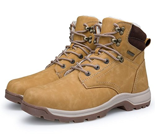 Sixspace Men Snow Boots Winter Boots Warm Lined Boots Invernali Stivaletti Stivali Outdoor Camel-02