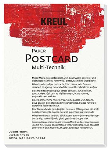 KREUL 69031 - Paper Postcard, DIN A6, 20 Blatt