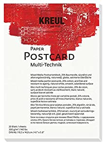 KREUL 69031Paper Post Card, 20Hojas, DIN A6