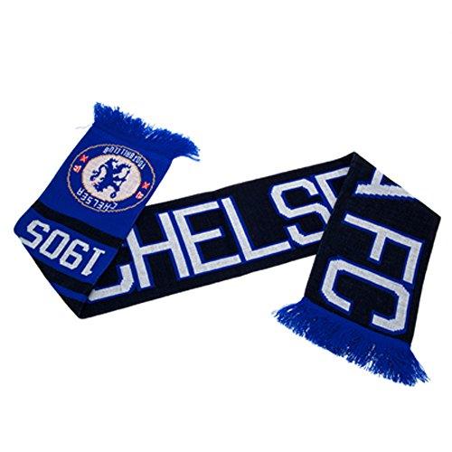 Official CHELSEA FC blauen und schwarzen Schal -
