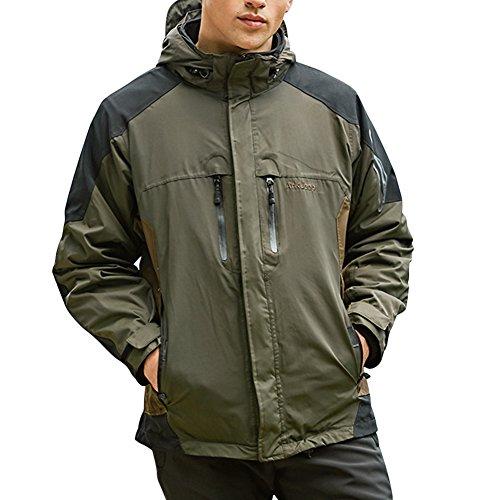 Libertepe Herren Jacke Parka 3 in 11 Winterjacke Doppeljacke Funktionsjacke Militaer Taktische Softshell Jacke outdoor Kapuzenjacke (Storm Parka Fleece)