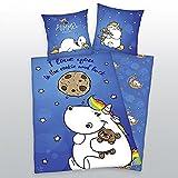 Bettwäsche Pummeleinhorn FLANELL Kekse Cookie 135 x 200 cm Geschenk NEU WOW - All-In-One-Outlet-24 -