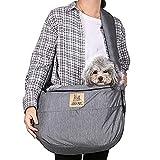 YYZZ Pet Carrier Dog Cat Sling Borsa a Tracolla Puppy Hands Free Travel Borsa per Il Trasporto Confezione Frontale Morbido Comodo Ventilato Animali Domestici Borsa per Il Trasporto