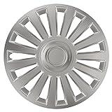 16 Zoll Radzierblenden LUXURY SILVER (Silber). Radkappen passend für fast alle OPEL wie z.B. Astra H