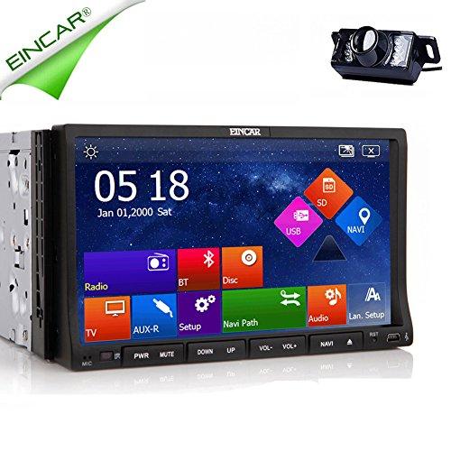 Accessorio per veicoli EinCar GPS touchscreen capacitivo FM AM Multimedia Autoradio Audio MP4 Car DVD Player universale 2 DIN stereo ricevitore del sistema di Video Radio con lettore CD 7'Telecomand