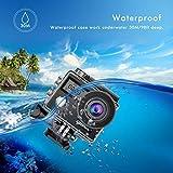 Campark X20 Caméra Sport 4K Ultra HD 20 MP avec EIS Anti-Shake Écran Tactil Télécommande Caméscope WiFi Caméra Étanche 170 °Grand-Angle avec 2 Batteries Rechargeables 1050mAh et Kits d'Accessoires