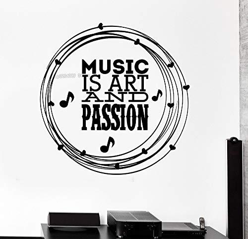 zqyjhkou Nuove Decalcomanie Rimovibili Music Art B Quote Murale Vinile Arte Murale Adesivi murali Decorazioni per la casa Soggiorno Camera da Letto 42x42cm
