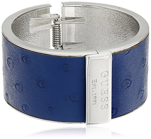 guess-hinged-cuff-with-ostrich-polyurethane-silver-navy-cuff-bracelet