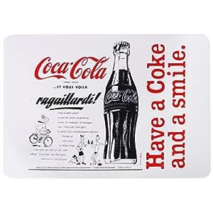 Coca Cola - Set de Table Canette Bouteille Coca Cola Coke Pub Vintage USA Blanc