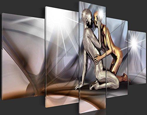 murando - Acrylglasbild Abstrakt 200x100 cm - 5 Teilig - Glasbilder - Wandbilder XXL - Wandbild - Bilder - h-A-0019-k-m - 5