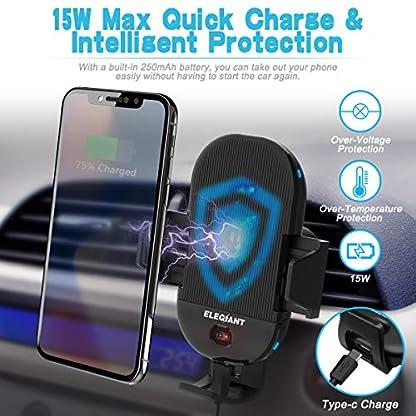 ELEGIANT-Wireless-Charger-Auto-Qi-Automatisch-kfz-ladegert-mit-Infrarot-Sensor-intelligenten-Handyhalterung-induktions-ladegert-15W-MAX-mit-Lftungshalterung-fr-Galaxy-iPhone-alle-Qi-Fhige-Gerte