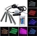 WESEEDOO Mehrfarbig Auto-Innenlichtleiste Neonauto-Lichtstreifen 36 Glühbirne Auto-Innenbeleuchtung Neon Dekoration RGB-Lichtstreifen
