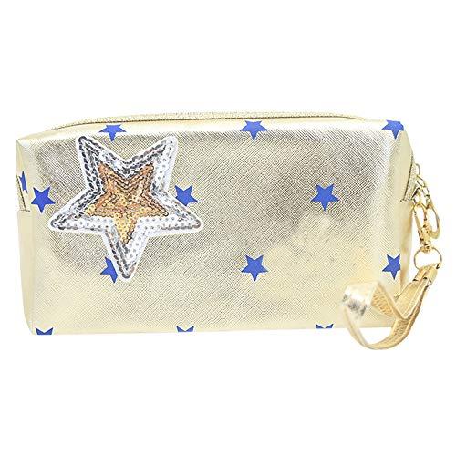 Vovotrade Make Up Cosmetic Sac Mode Multifonction Maquillage Brush Sac Star Stripe Prince Pack Sacs À Main Femmes Star Travel Sac
