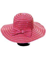 Fletion Le plus récent point de couleur arc sort de mode couleur grand larges bords enfants chapeau en tissu soleil d'été chapeau de plage grand chapeau à bords