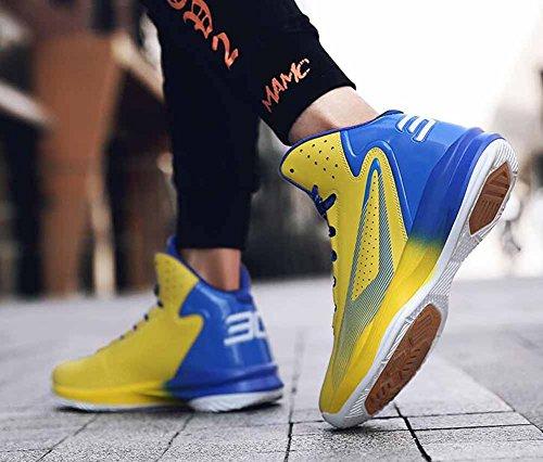 Uomini Traspirante Pallacanestro Scarpe Da Ginnastica 2018 Primavera Nuovo Moda Leggero Atletico Scarpe Yellow
